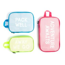 3 piece small canvas travel bags