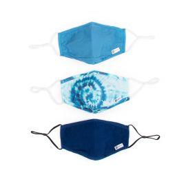 3PC FACE MASK: BLUE TIE DYE