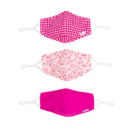 3PC FACE MASK: HOT PINK